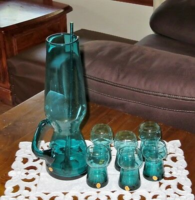 KROSNO 8 piece pitcher & glass set