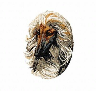 Afghan Hound  Navy Canvas Book Bag    Embroidered Head