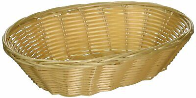 Woven and Bread Natural Color Oval Serving Basket 9-1/2-inch - Set of 12