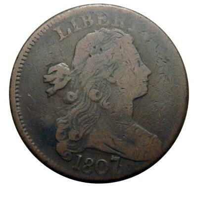 Large cent/penny 1807/6 overdate attractive original