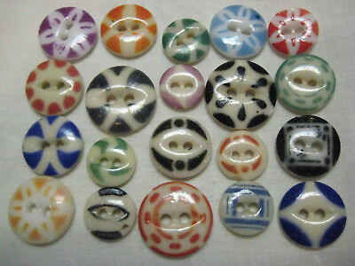 Fun Lot Antique China Stencil Buttons