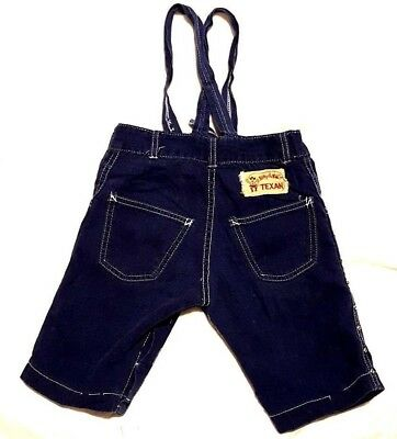 50s BILLY THE KID OVERALLS TEXAN Denim Selvedge Single Stitching Jeans GRIPPER