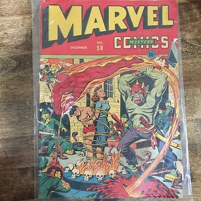 Marvel #50 - Cover only, Marvel #46 - NC, Superman #4 - NC, Punch Comics #1 - NC