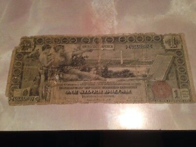 1896 $1 One Dollar Educational Silver Certificate Currency Note Filler