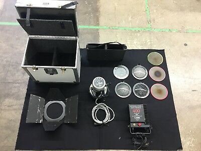 400 Joker Light HMI Kit Complete with Lenses, Scrims, Barndoor, and Case