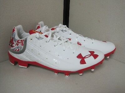 New Under Armour Team Banshee Low MC Football Cleats Maryland Size 9 - DK344