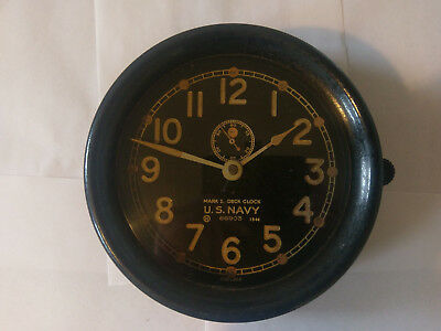 Chelsea Clock Co Schiffsuhr  US Navy Deck Clock  Mark I Mk 1 1944 WW II