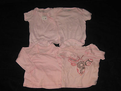 5a3b31aa794d Baby Girl 3-6 Months Burts Bee Organic Cotton Onsies One Piece tops Clothes  lot
