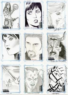 Xena Art & Images Complete Sketch Card Set 11 Different Cards
