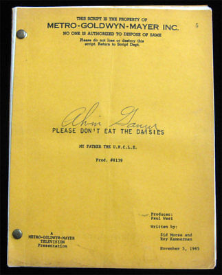Please Dont Eat the Daisies RARE SIGNED 1965 Script - Man from UNCLE  VTG MGM TV