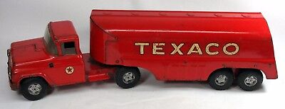 Vintage 1960's BUDDY L Pressed Steel TEXACO Fuel Gasoline Tanker Toy Truck 24""