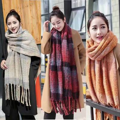 Ladies Extra Thick Warm Scarf Knitted Shawl Wrap Winter Long Soft Scarves