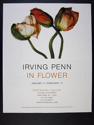 2007 Irving Penn photo In Flower Exhibition NYC gallery vintage print Ad
