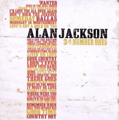 34 Number Ones - Alan Jackson Compact Disc Free Shipping!