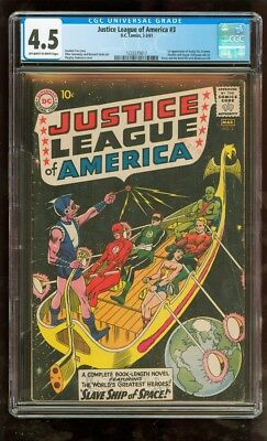 Cgc 4.5 Justice League Of America #3 D.c. 1961 1St Appearance Of Kanjar Ro Kromm