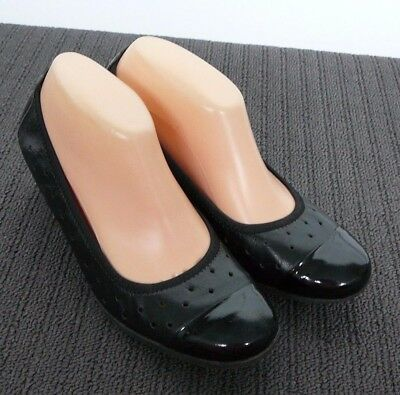 ($149) GAMINS Quality LEATHER Black Shoes (sz 9) #261