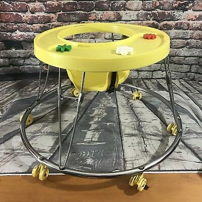 Vtg Hoola Coupe By Century Graco Round Circular Baby Walker ~ Play or Movie Prop