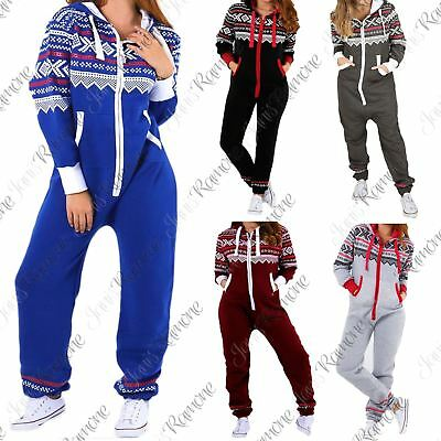 New Kids Girls Boys Aztec Print ZipUp All In One Fleece Hooded Jumpsuit Playsuit