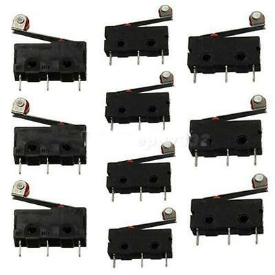 10pcs KW12-3 Micro Roller Lever Arm Normally Open Close Limit Switch Black EPYG
