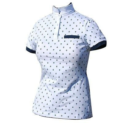Equestrian Shirt Dressage Showjumping Competition Horse Riding Top White - Sz 18