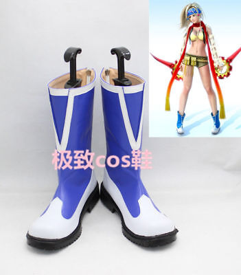 Hot ! ! Final Fantasy X RIKKU Boot Party Shoes Cosplay Boots Custom-made FF.123