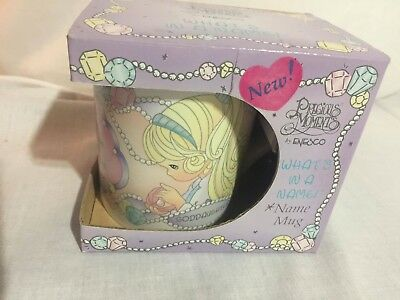 1997 Enesco Precious Moments What's In A Name Goddaughter Mug NEW
