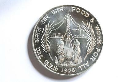 FAO / F.A.O. India 50 Rupees 1976  - uncirculated - silver