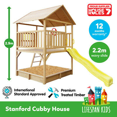 Lifespan Kids Stanford Cubby House Set for Backyard Playground