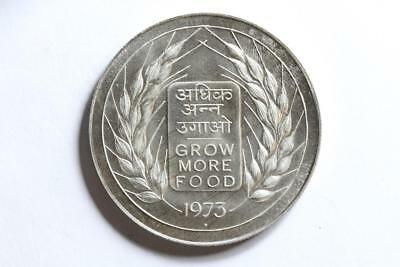 FAO / F.A.O. India 20 Rupees 1973  - uncirculated - silver