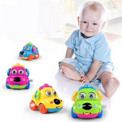 Educational Toys Cartoon Clockwork Puppy Car with Flexible Ears Baby Toy Gift