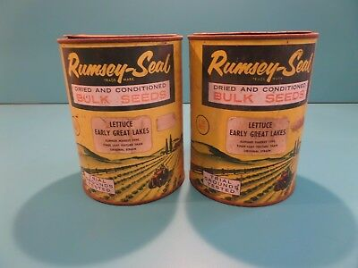 Collectable Seed tins, Lettuce seads Rumsey-Seal