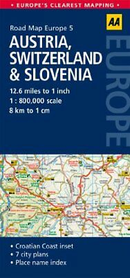 AA Road Map Austria, Switzerland & Slovenia (Road Map Europe... by AA Publishing