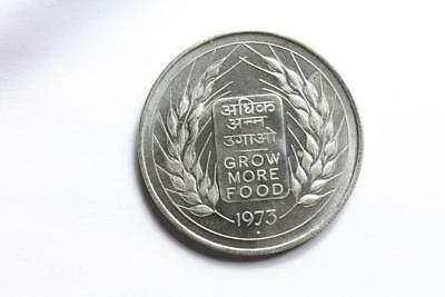 FAO / F.A.O. India 10 Rupees 1973  - uncirculated - silver