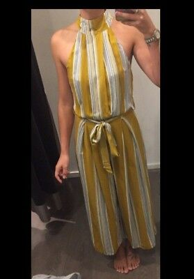 Yellow Mustard Stripped Pant Suit