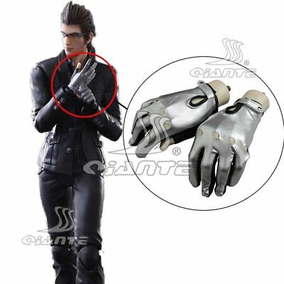 FF15 Final Fantasy XV Ignis Scientia Gloves Cospaly Sliver Gloves Halloween New