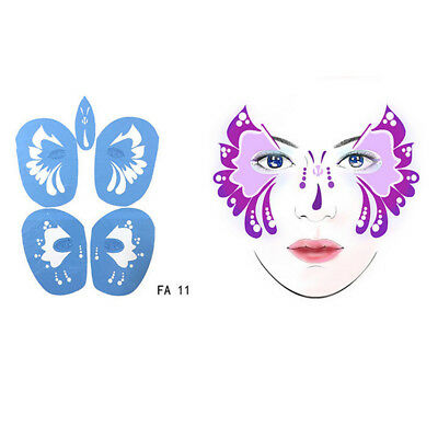 1 Set Body Face Paint Stencil Makeup Template for Stage COSPLAY Party #2