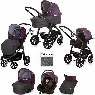 Hauck Berry Soul Plus Trio Set Travel System Pushchair Carrycot Car Seat
