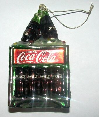 Coca~Cola Coke Christmas Ornament 12 Pack In Cooler