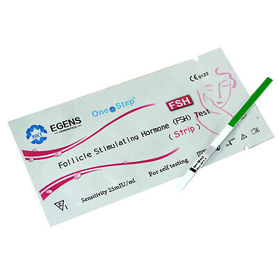 Female Fertility Menopause Test FSH Urine Testing Strip Kit