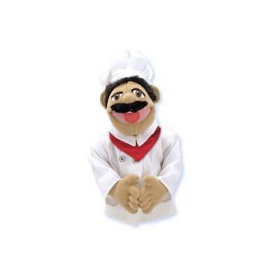 Melissa and Doug Hand Puppet Role Play Toy Muppets Chef,Pirate, Dragon, Police
