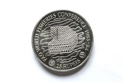 FAO / F.A.O. Seychelles 25 Rupees 1983 - World Fisheries Conference - unc.