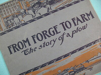 "1901 John Deere Moline Factory Promotional Booklet Catalog ""From Forge To Farm"""