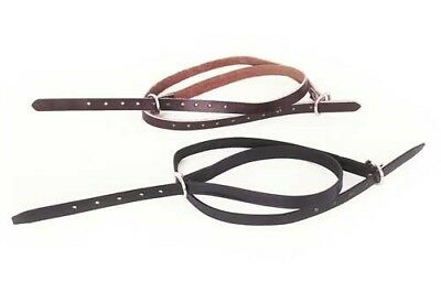 New Black Leather Spur Straps