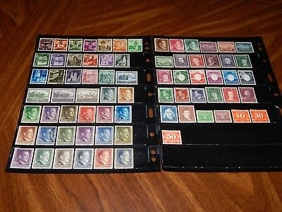 Poland Occupation stamps - BIG lot of 73 mint hinged and used old stamps - nice!