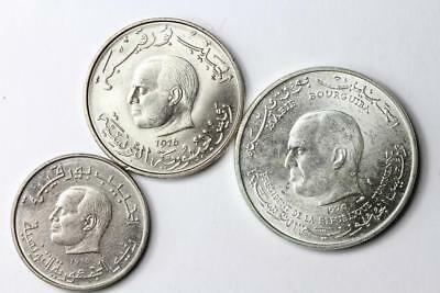 FAO / F.A.O. Tunisia - lot of 3 coins (1 x silver) - uncirculated