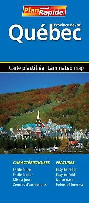 Quebec City  Fast Track Laminated Map - 0449 - MapArt