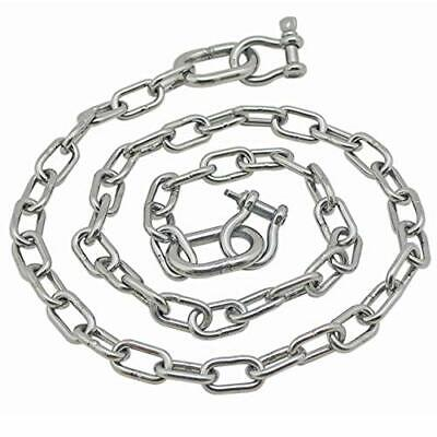 "Stainless Steel 316 Anchor Chain 3/16"" x 4' replaces Extreme Max 3006.6575"
