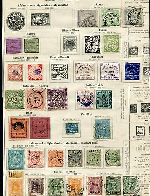 (NO181) India native states indische classic stamps 7 Pages