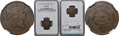 1795 Half Cent NGC XF-40 BN Plain Edge, No Pole