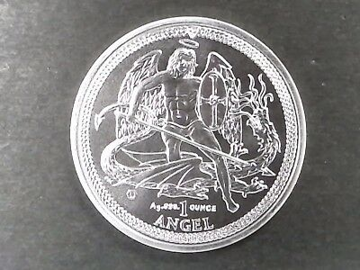 2014 Isle of Man Silver Angel .999 Silver Coin 1 oz